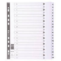 Guildhall Mylar Index A-Z A4 White MWDA-ZZ