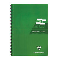 Europa Green A4 Wirebound Notebooks, Pack of 5 - 5800Z