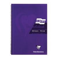 Europa Purple A4 Wirebound Notebooks, Pack of 5 - 5803Z