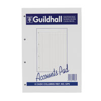 Guildhall 6 Cash Columns Account Pad - 081112