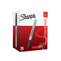 Sharpie Fine Black Permanent Marker, Pack of 36 - 2025040