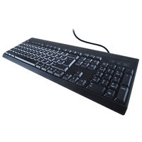 Computer Gear Black USB Keyboard, Black - 24-0232