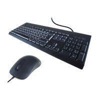 Computer Gear KB235 Standard Anti-Bacterial Keyboard and Mouse - 24-0235