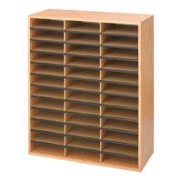 Safco Oak 36 Compartment Literature Organiser - 9403MO