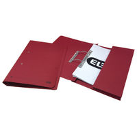 Elba Stratford Bordeaux Foolscap Spring Pocket Files 32mm - Pack of 25 - 30117