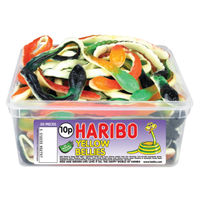 View more details about Haribo Giant Yellow Bellies Drum, Pack of 24 | 096444