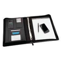 Monolith Black Zipped Meeting Folder - 2827