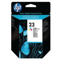 View more details about HP 23 Tri Colour  Ink Cartridge C1823D