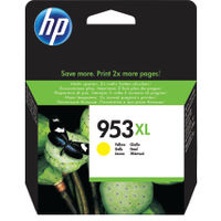 HP 953 XL Yellow Ink Cartridge - High Capacity F6U18AEBGX
