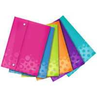 Leitz WOW Assorted A4 Polypropylene Wallet Folders, Pack of 6 - 44690099