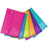 Leitz WOW Assorted A4 Polypropylene Wallet Folders, Pack of 6 - 44690099
