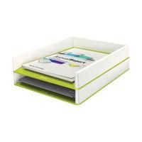 Leitz WOW Letter Tray Dual Colour White/Green - 53611064