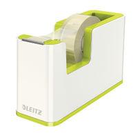 Leitz WOW White-Green Tape Dispenser - 53641064