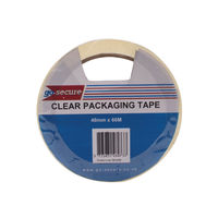 Go Secure Clear 50mm x 66m Packaging Tape, Pack of 6 - PB02297