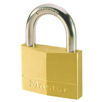 View more details about Master Lock 40mm Brass Padlock 140EURD