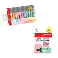 Stabilo 6 x Pastel Highlighters, Free Pastellove Highlighters - SS811660