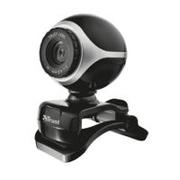 Trust Exis Webcam, Black and Silver - 17003
