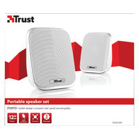 Trust Portable 12 Watt USB Speaker Set (6 Watt RMS) 19912