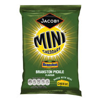Jacobs Mini Cheddars Branston Pickle Grab Bags, Pack of 30 - 27814