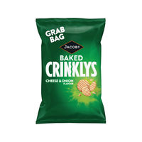 Jacobs Crinklys Cheese and Onion Grab Bags, Pack of 30 - 27812