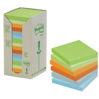 Post-it 76 x 76mm Recycled Notes Tower, Pack of 16 - 3M00675