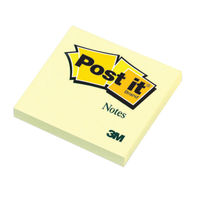 Canary Yellow 76 x 76mm Post-it Notes, Pack of 12 - 654 YELLOW