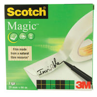 Scotch Tape - 25mm x 66m Magic Invisible Tape Roll - 8102566
