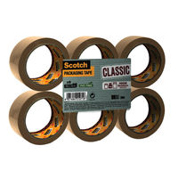 Scotch Brown Buff Packaging Parcel Tape - 50mm x 66m - Pack of 6 - C5066SF6