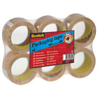 Scotch Tape - PVC Clear Packaging Tape - Pack of 6 - 3M69682