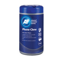 AF Phone-Clene Wipes Tub, Pack of 100 - APHC100T