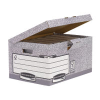 Fellowes Bankers Box Flip Top Storage Box, Pack of 10 - 01815