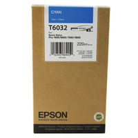 View more details about Epson T6032 High Yield Cyan Inkjet Cartridge C13T603200 / T6032