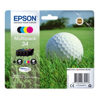 View more details about Epson 34 Black and Colour Ink Cartridge Multipack - C13T34664010