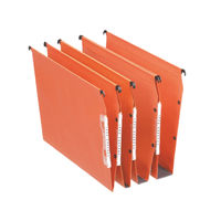 Esselte Orgarex V-Bottom Orange Lateral A4 Files, Pack of 25 - 21627