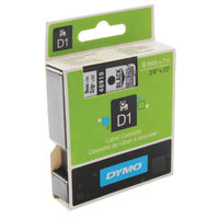 Dymo D1 Standard Label Tape Black on Clear - S0720670