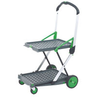 GPC Clever Folding Trolley, Green/Silver, Max Weight 60kg - GC051Y
