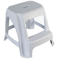 View more details about GPC White Plastic Step Stool (L470 x W510 x H400mm) HE400Z