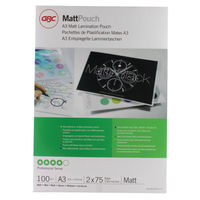 View more details about GBC A3 Laminating Pouch 150 Micron Matte (Pack of 100) 41660E