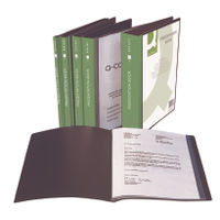 Q-Connect Black A4 10 Pocket Presentation Display Book - KF01263