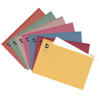 Q-Connect Assorted Foolscap Square Cut Folders 180gsm, Pack of 100 - KF01491
