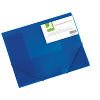 Q-Connect Blue A4 Elasticated Folder - KF02312