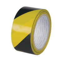 Q-Connect Yellow and Black 48mm x 20m Hazard Tape, Pack of 6 - KF04383