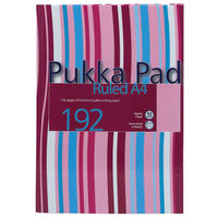 Pukka Pad A4 Striped Project Book, 192 Pages, Pack of 5 - PP00367