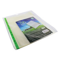 Snopake Bio2 A4 Clear Punched Pockets, 80 Micron - Pack of 25 - SK19671