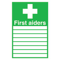 View more details about First Aiders (300 x 200mm) Safety Sign - FA01926S