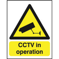 View more details about CCTV In Operation A5 PVC Warning Sign - GN00751R