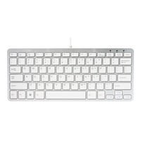 R-GO White Wired Compact Keyboard - RGOECUKW