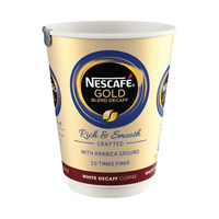View more details about Nescafe and Go Gold Blend Decaffeinated White Coffee Cups - Pk8 12310643