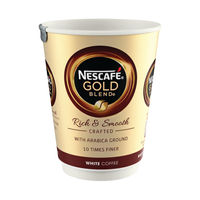 View more details about Nescafe and Go Gold Blend White Coffee Vend Cups - Pack of 8 - 12033813