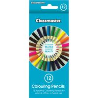 Classmaster Assorted Colouring Pencils, Pack of 12 - CPW12
